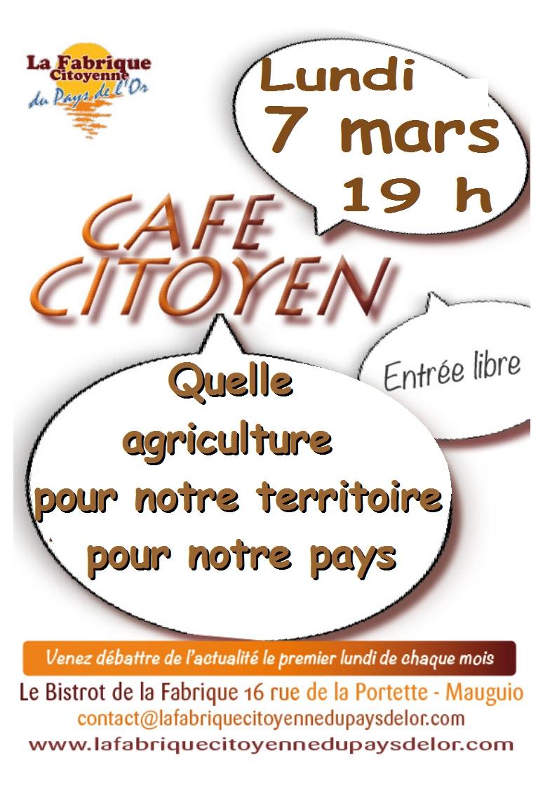 Café Citoyen le premier lundi de chaque mois à la Fabrique