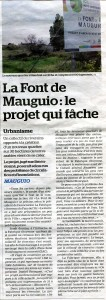 MArseillaise article Font de Mauguio